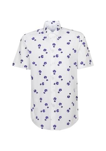 seidensticker Businesshemd »Regular«, Regular Kurzarm Kentkragen Floral kaufen