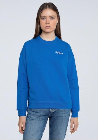 Pepe Jeans Sweater »BONNIE«, mit kleinem Marken-Logo-Druck in klassischer Form kaufen