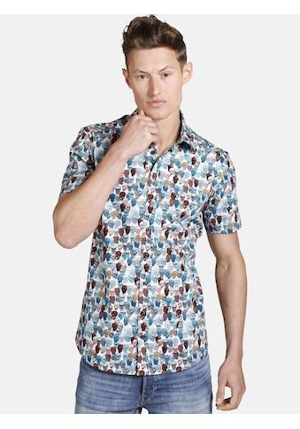 SHIRTMASTER Kurzarmhemd »colourfulskull«, mit Totenkopf-Druck kaufen