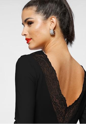 Melrose Rundhalsshirt, mit tiefem Rückenausschnitt und Spitze kaufen