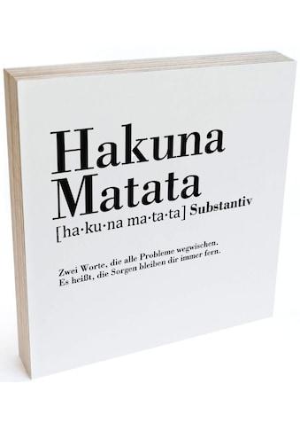 Wall-Art Holzbild »Tischdeko Hakuna Matata«, (1 St.) kaufen