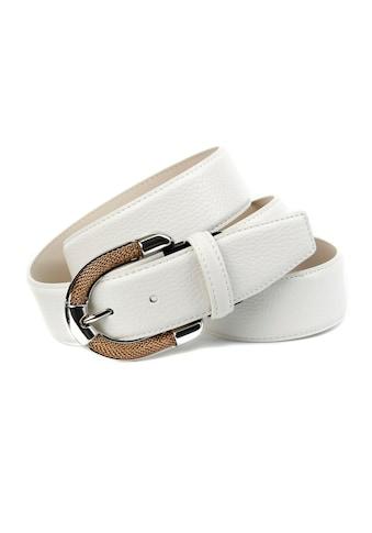 Anthoni Crown Ledergürtel, mit aufwendiger Schmuckschliesse kaufen