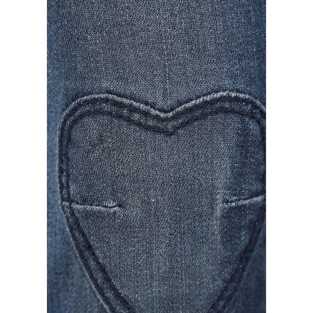 Arizona Schlupfjeans, mit Herzförmiger Verstärkung auf den Knien