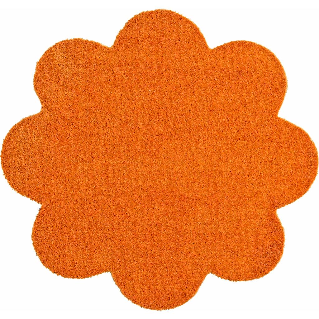 HANSE Home Fussmatte »Deko Soft«, blumenförmig, 7 mm Höhe, Schmutzfangmatte, saugfähig, waschbar