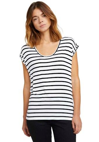 TOM TAILOR Denim T-Shirt, im Streifen-Look kaufen