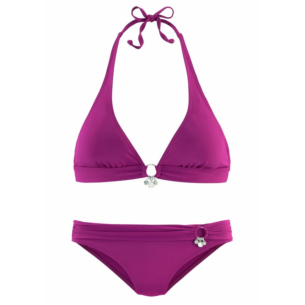 s.Oliver Beachwear Triangel-Bikini, mit Accessoires