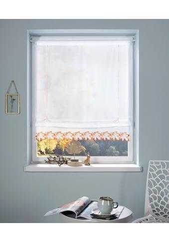 my home Bändchenrollo »Blatt«, mit Stangendurchzug kaufen