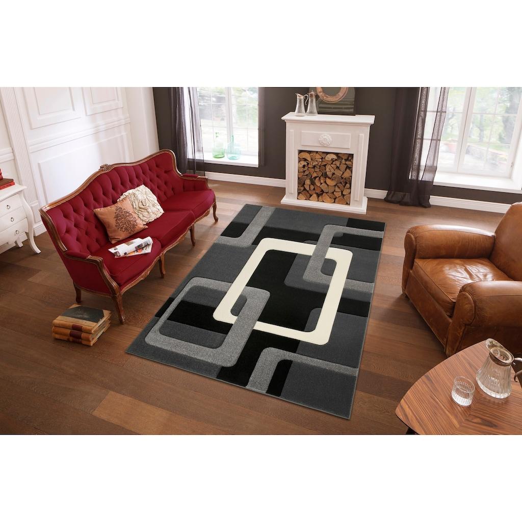 my home Teppich »Maxim«, rechteckig, 13 mm Höhe, Hoch-Tief-Effekt, Wohnzimmer