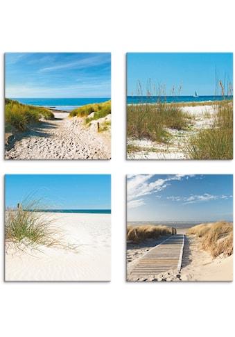 Artland Leinwandbild »Strand und Sanddünen«, Strand, (4 St.) kaufen