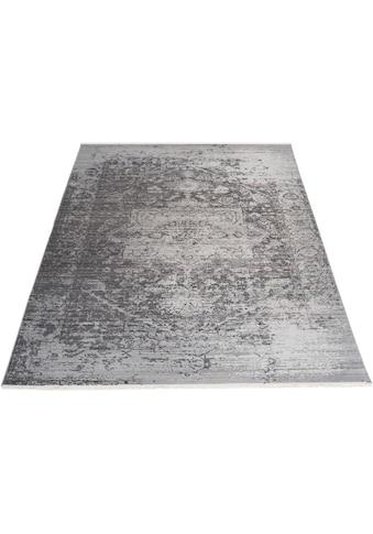 DELAVITA Teppich »Bruno«, rechteckig, 5 mm Höhe, Vintage Design, mit Fransen, Wohnzimmer kaufen