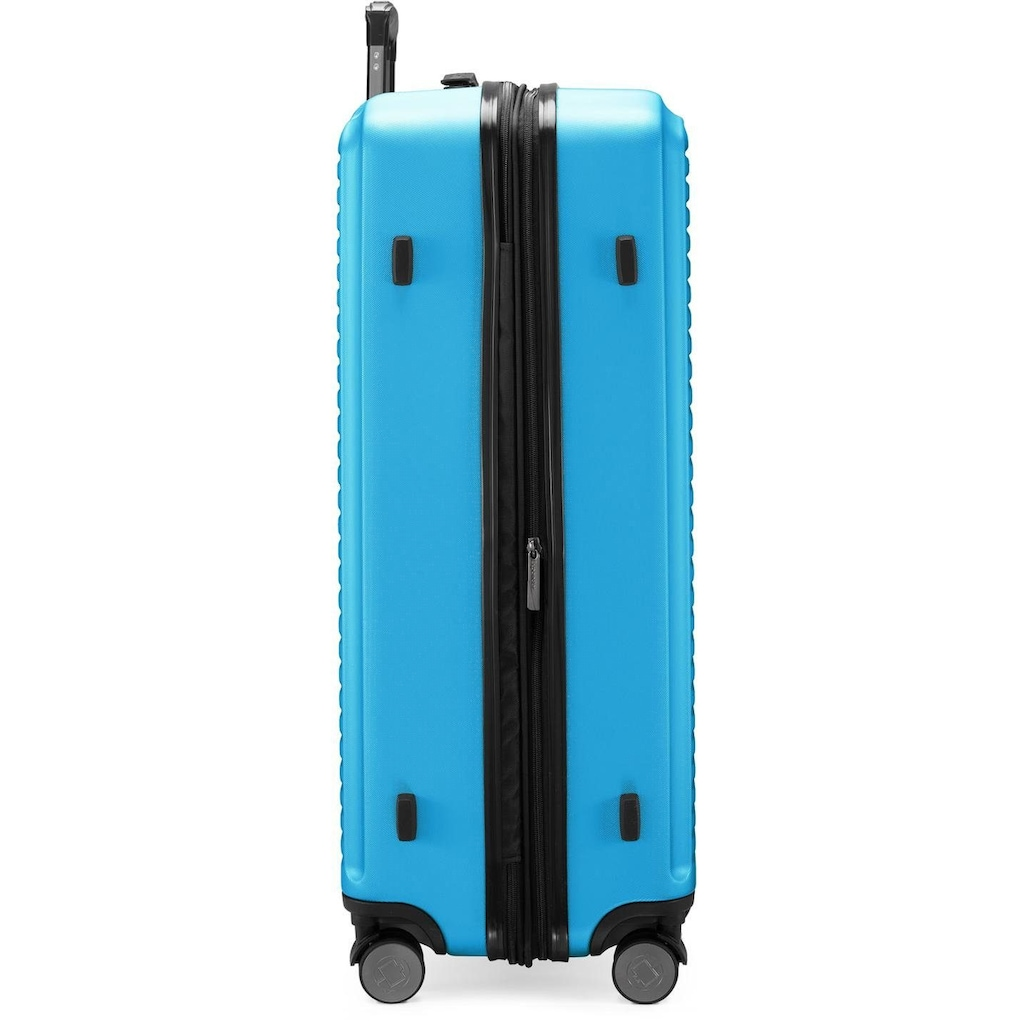 Hauptstadtkoffer Hartschalen-Trolley »Mitte, 77 cm, cyanblau«, 4 Rollen