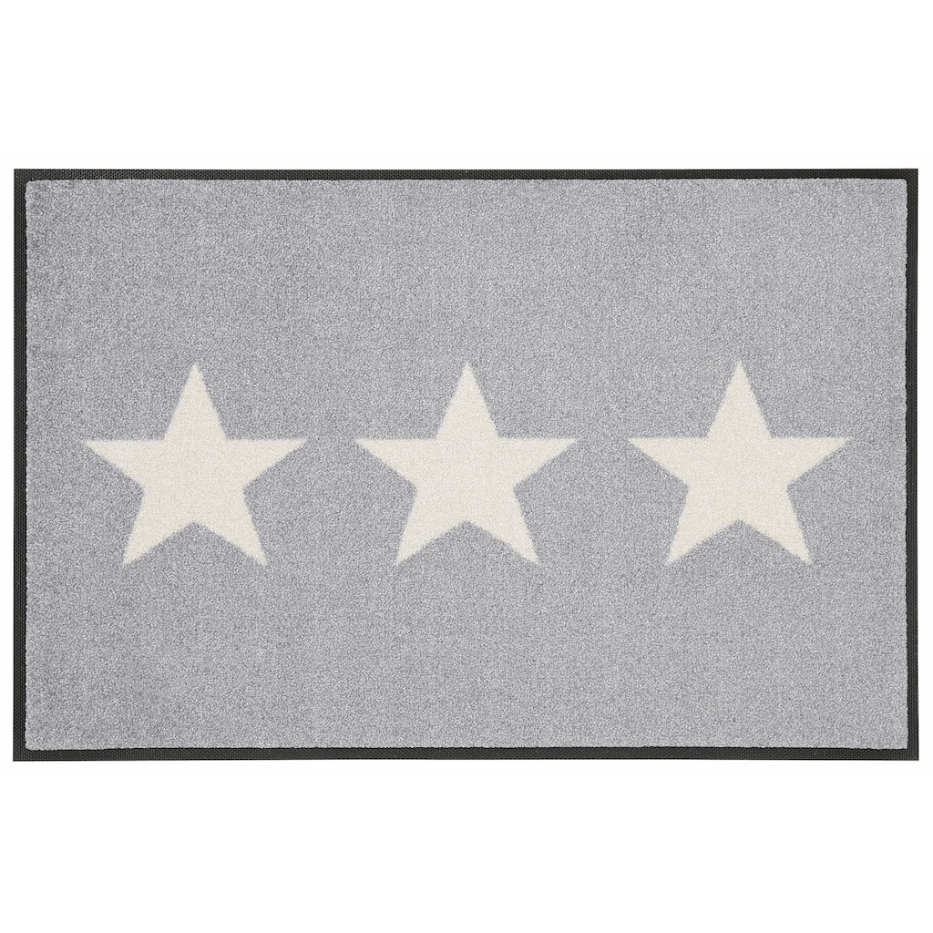 wash+dry by Kleen-Tex Fussmatte »Stars«, rechteckig, 9 mm Höhe, Schmutzfangmatte, In- und Outdoor geeignet, waschbar