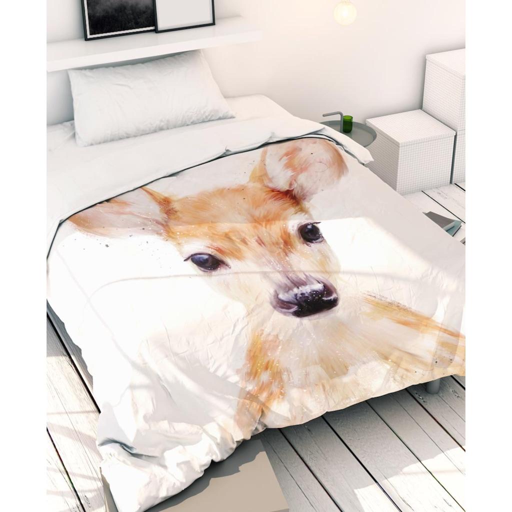 Juniqe Bettwäsche »Little Deer«, In vielen weiteren Designs erhältlich