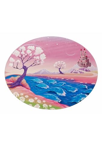 Böing Carpet Kinderteppich »Lovely Kids 405«, rund, 6 mm Höhe, Motiv Königreich kaufen