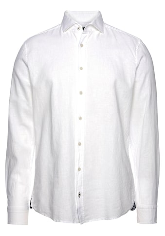 Joop Jeans Langarmhemd, in Leinenoptik, mit Haifischkragen kaufen