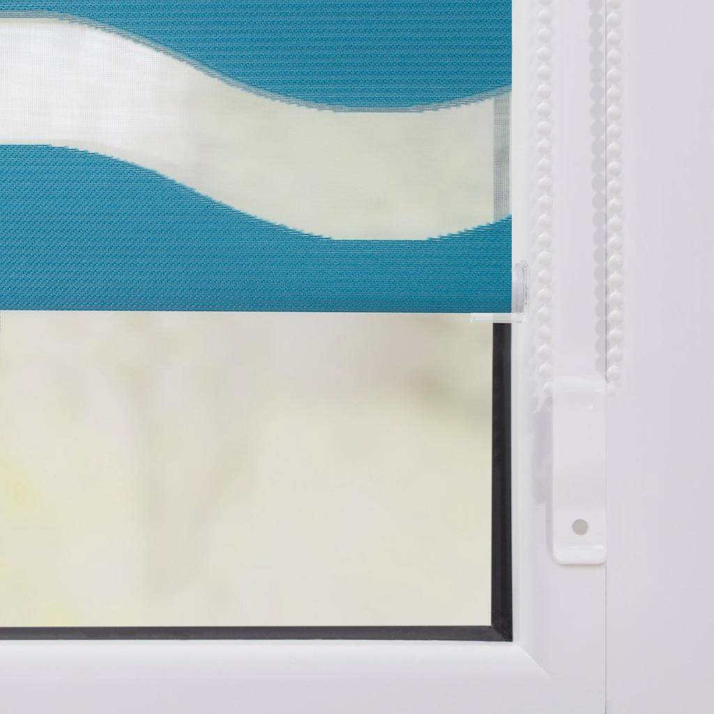 LICHTBLICK ORIGINAL Doppelrollo »Duo Rollo Klemmfix Welle«, Lichtschutz, ohne Bohren, im Fixmass