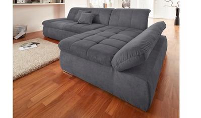 DOMO collection Ecksofa, mit Recamiere, wahlweise mit Bettfunktion kaufen