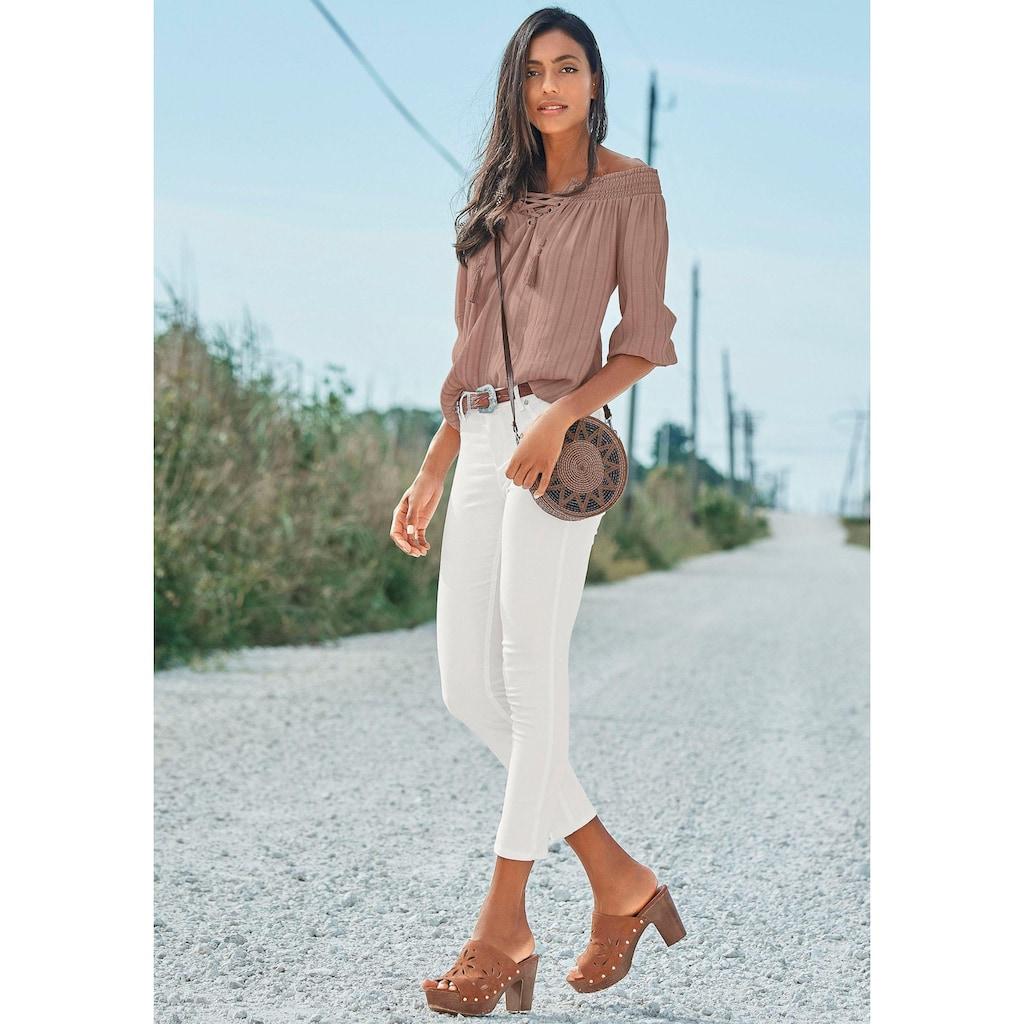 LASCANA Pantolette, mit Cut-Outs und Blockabsatz
