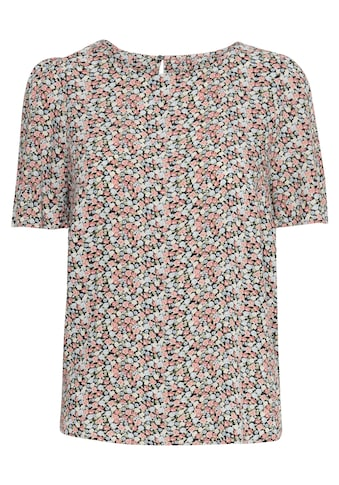 b.young Kurzarmbluse »b.young Damen Kurzarmbluse mit Print«, Blusenshirt mit Print kaufen