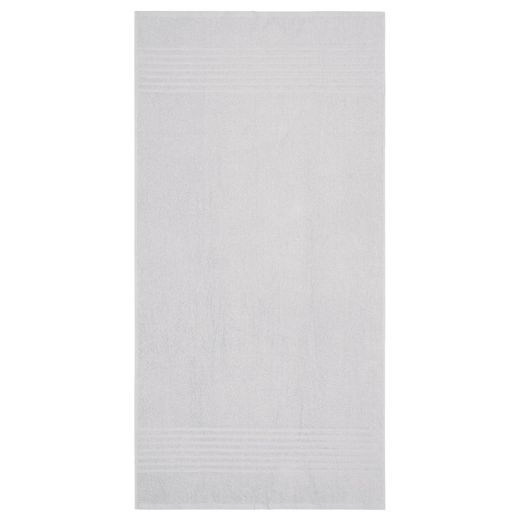 my home Badetücher »Finn«, (4 St.), mit unifarbenem und gestreiftem Design