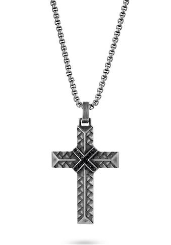 Firetti Kette mit Anhänger »Woven/Kreuz«, mit Zirkonia (synth.) kaufen