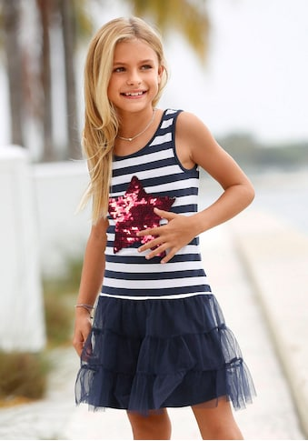 Arizona Volantkleid, mit Wendepailletten und Tüll kaufen