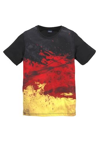 Arizona T-Shirt »schwarz/rot/goldfarben/ Deutschland« kaufen