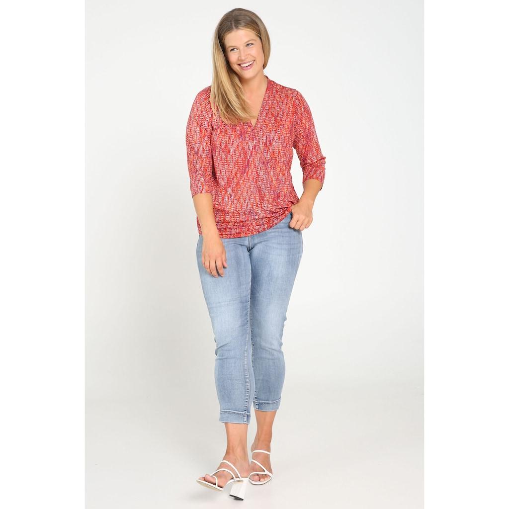 Paprika Print-Shirt »mit breitem Rundhals«, casual Naturfarbe aus Viskose