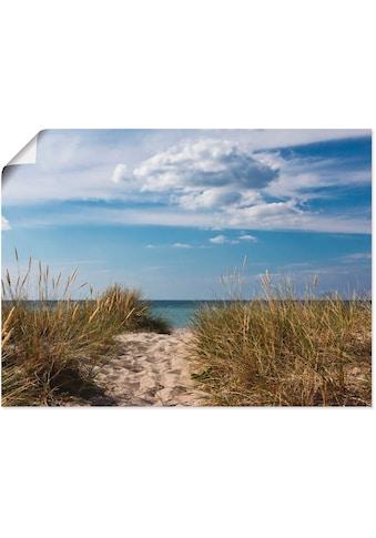 Artland Wandbild »Ostseestrand in Dänemark«, Strand, (1 St.), in vielen Grössen &... kaufen