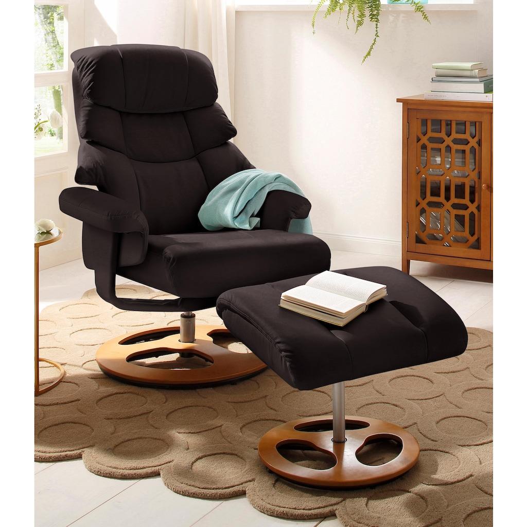 Home affaire Relaxsessel »Toulon«, inklusive Hocker, mit manueller Relaxfunktion, auswählbar zwischen zwei unterschiedlichen Beingestellen, Sitzhöhe 45 cm
