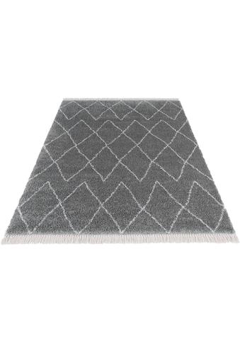 MINT RUGS Hochflor-Teppich »Jade«, rechteckig, 35 mm Höhe, Pastell-Farben mit Fransen,... kaufen
