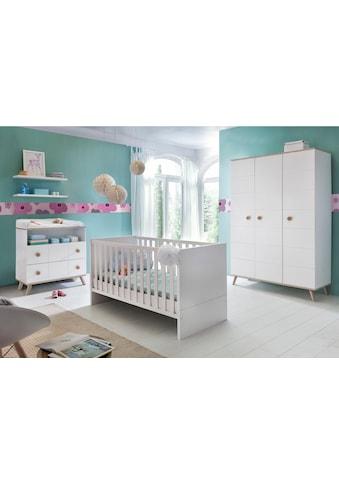 Babyzimmer-Komplettset »Cannes«, (Set, 3 St.), Bett + Wickelkommode + 3 trg. Schrank kaufen