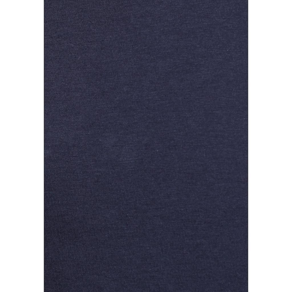AJC T-Shirt, mit kontrastfarbenem Rippbündchen