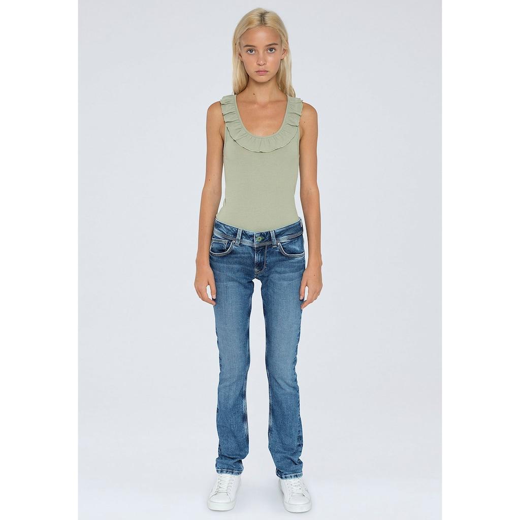 Pepe Jeans Straight-Jeans »SATURN«, mit hinterer Doppeltasche und Stretch-Anteil