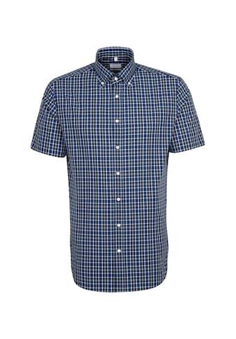 seidensticker Businesshemd »Shaped«, Shaped Kurzarm Button-Down-Kragen Karo kaufen