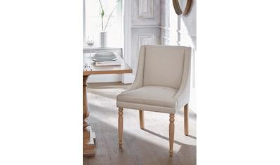 Guido Maria Kretschmer Home&Living 4-Fussstuhl »Davit«, mit schöner Sitzpolsterung und geschwungenen, anliegenden Armlehnen kaufen