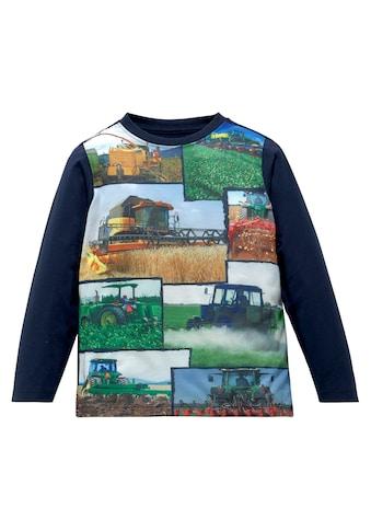 KIDSWORLD Langarmshirt »Druck mit Landmaschinen« kaufen
