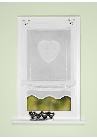 HOME WOHNIDEEN Bändchenrollo »CORAZON«, mit Hakenaufhängung, Bändchenrollo, bestickt kaufen