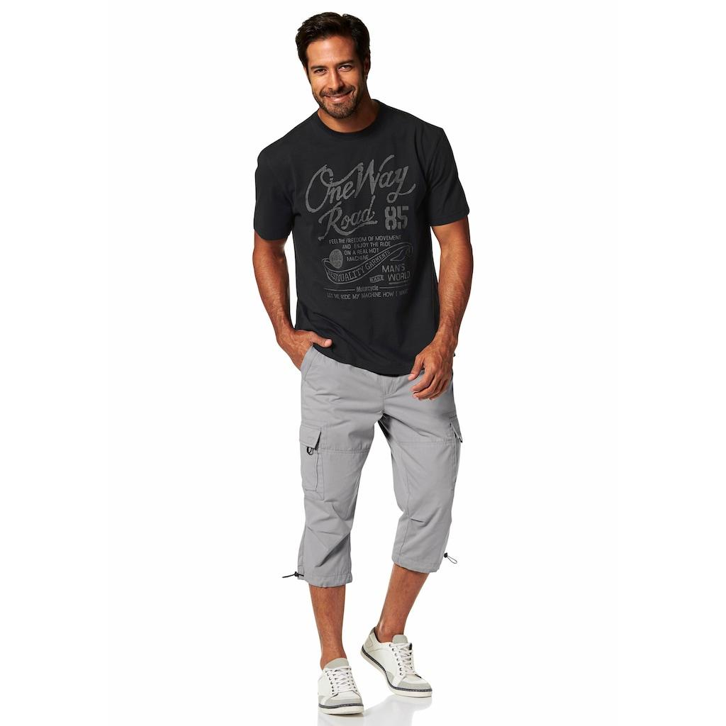 Man's World T-Shirt, mit Print in Used-Optik