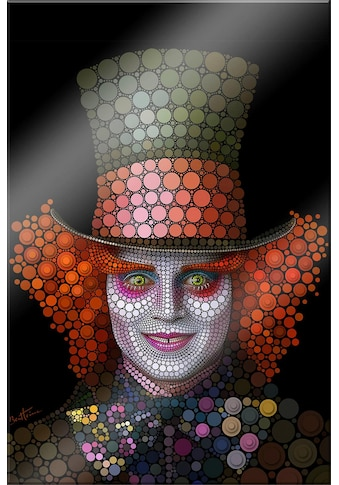 Acrylglasbild »Circlism: Johnny Depp der Hutmacher« kaufen