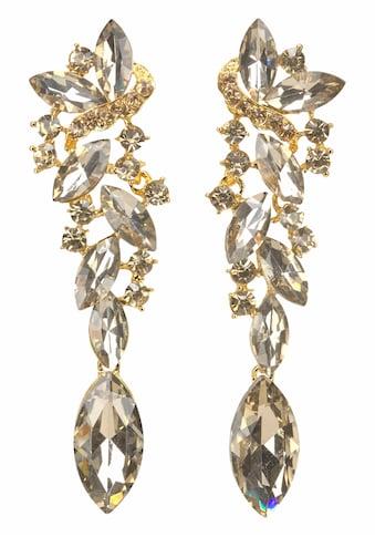 J.Jayz Paar Ohrstecker »Glamour-Look«, (1 tlg.), mit grossen funkelnden Glassteinen kaufen
