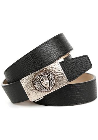 Anthoni Crown Ledergürtel, Automatik in schwarz kaufen