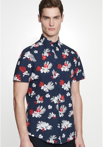 seidensticker Businesshemd »Slim«, Slim Kurzarm Kentkragen Floral kaufen