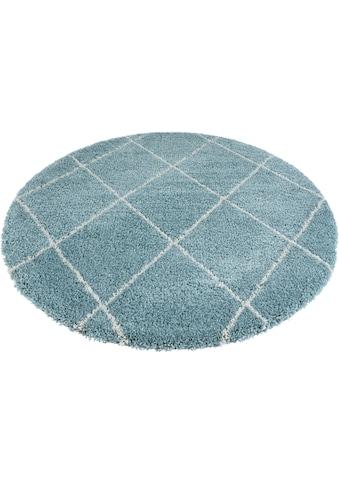 Leonique Hochflor-Teppich »Belle«, rund, 35 mm Höhe, Rauten Design, weiche Haptik,... kaufen