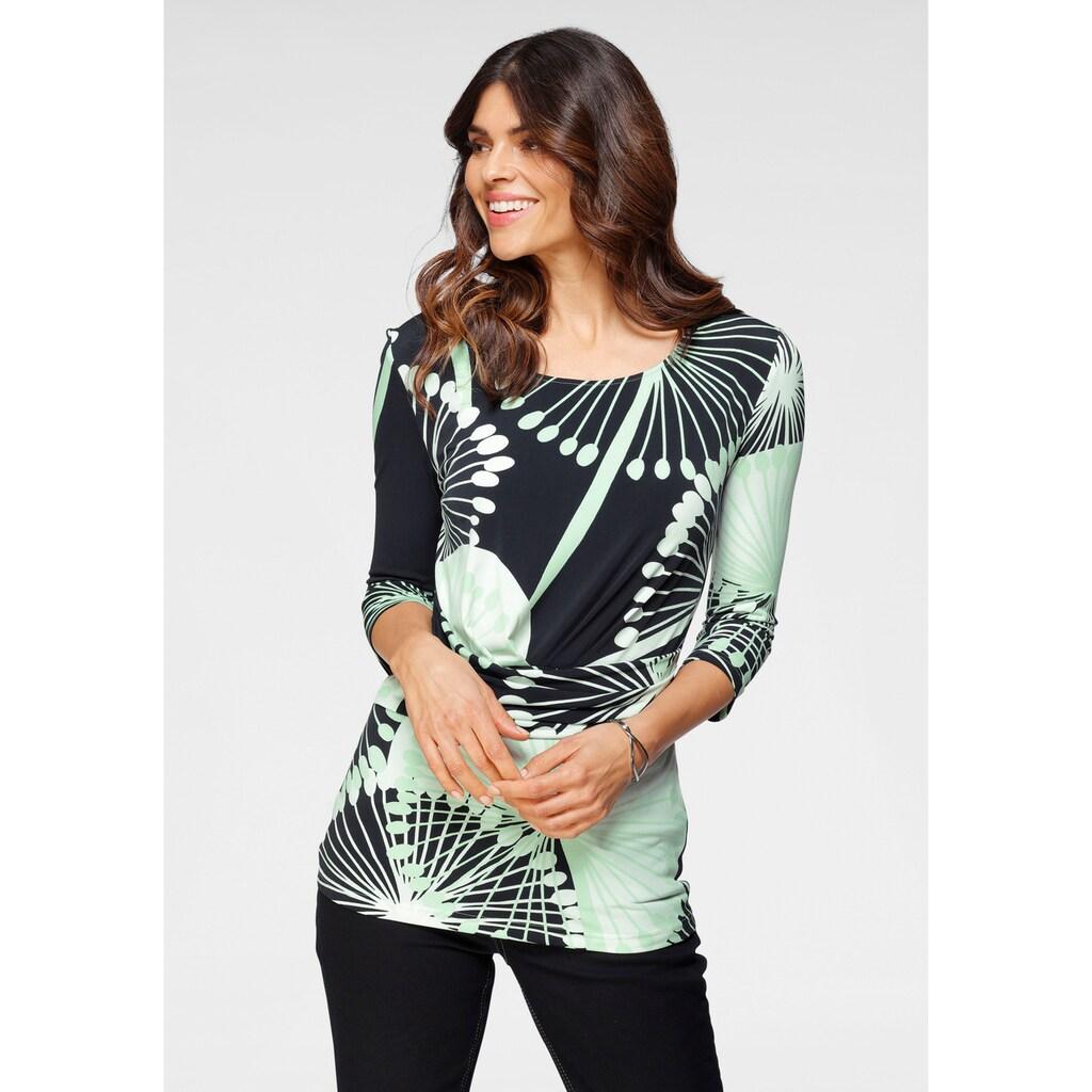 select! By Hermann Lange Rundhalsshirt, feminines Shirt mit Raffung