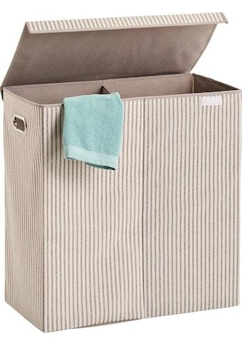 Zeller Present Wäschesortierer »Stripes«, 2-fach, Vlies, beige kaufen