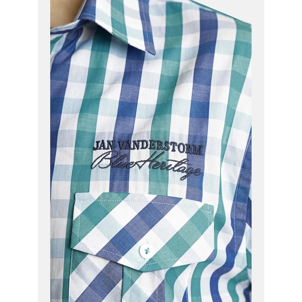 Jan Vanderstorm Kurzarmhemd »OLVAR«, Karohemd mit Komfortschnitt