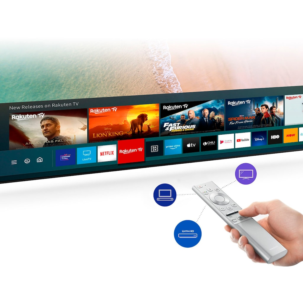 "Samsung QLED-Fernseher »GQ55Q75TGT«, 138 cm/55 "", 4K Ultra HD, Smart-TV"