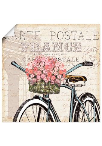 Artland Wandbild »Paris Fahrt II«, Fahrräder, (1 St.), in vielen Grössen &... kaufen