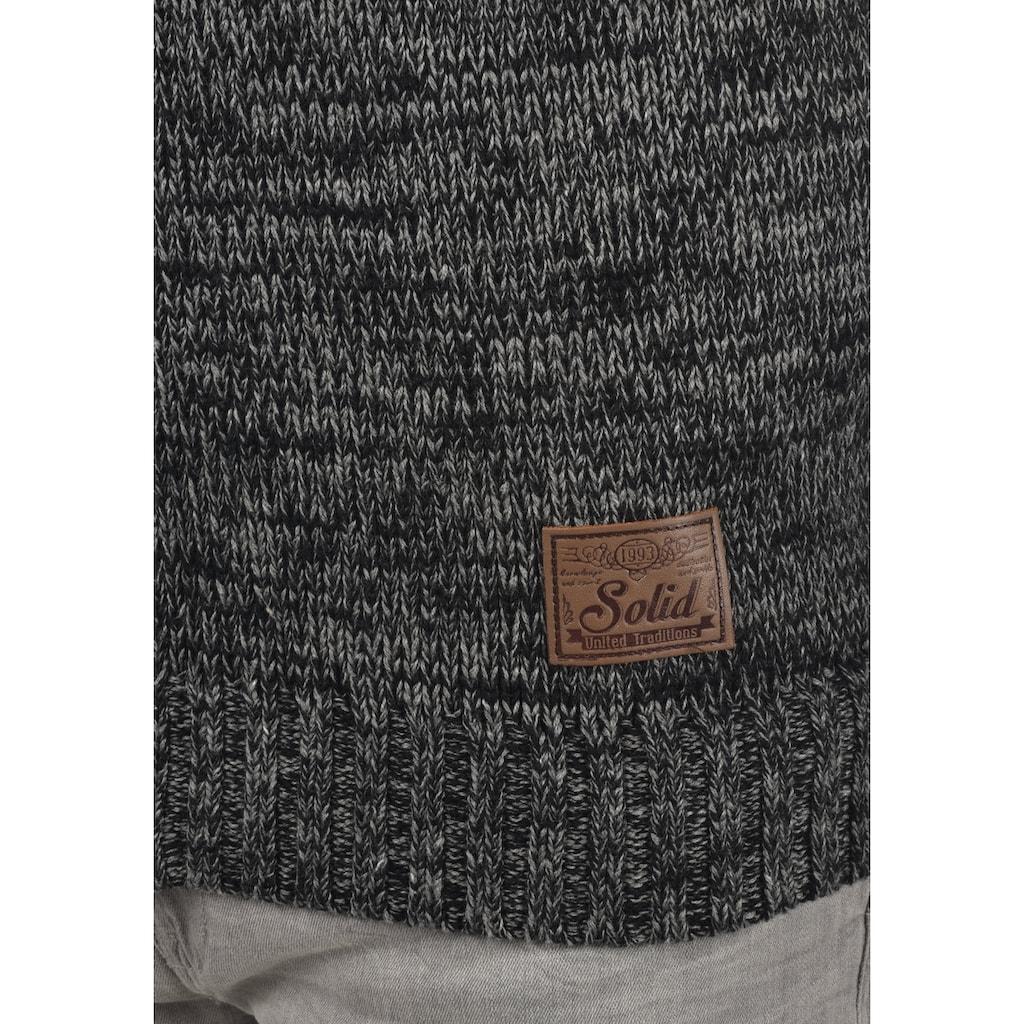 Solid Strickjacke »Pomeroy«, Cardigan mit hochabschliessendem Kragen